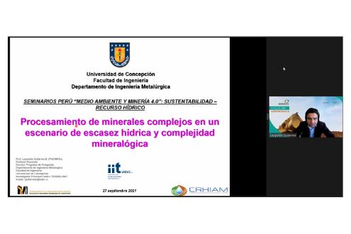 Colaborador IIT UdeC participó en Seminario Perú sobre medio ambiente y recursos hídricos